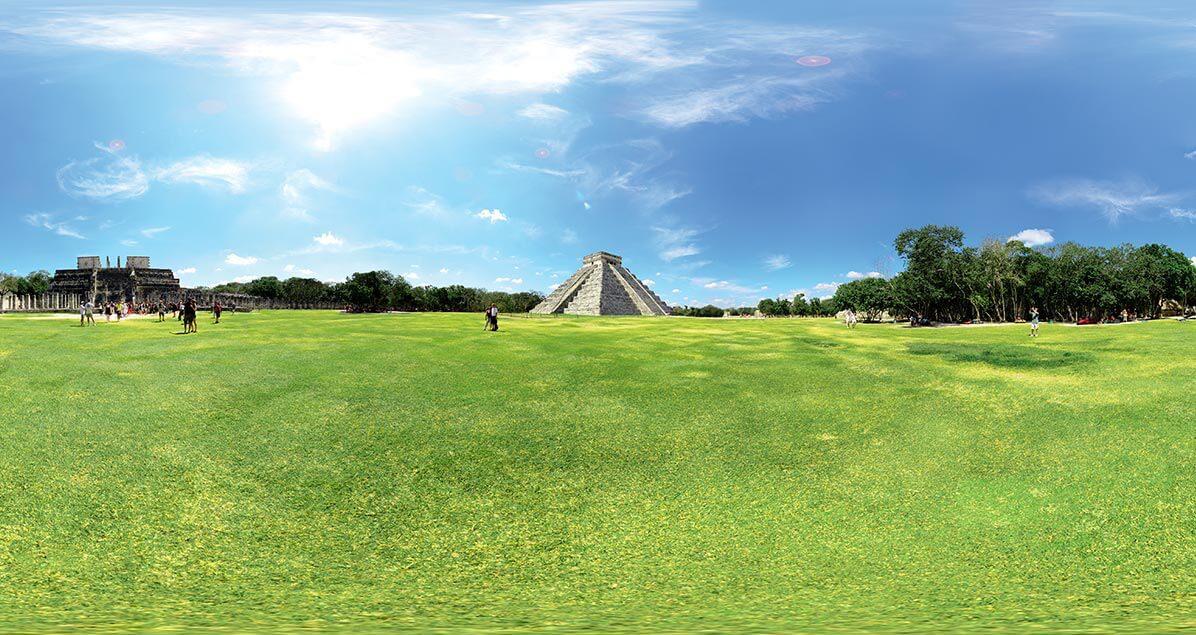 fotografia 360 y panoramica de un sitio arqueologico